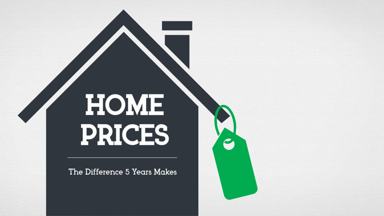Home Prices - The Difference 5 Years Makes